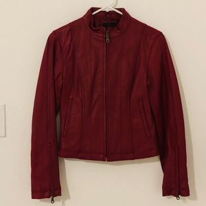Wilsons leather red jacket.